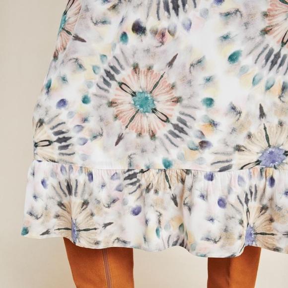 Details about  /NEW Anthropologie Kachel Chiara Watercolor Midi Dress size 12 nwt